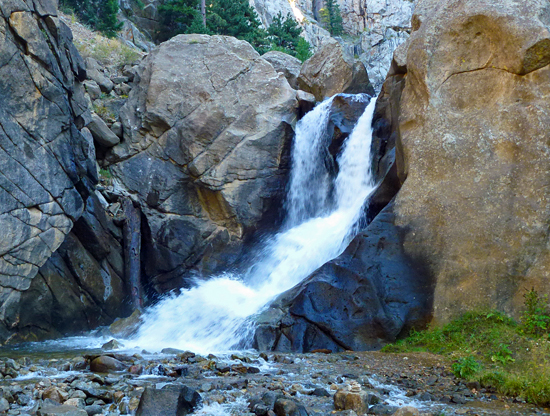 Boulder Falls is an impressive waterfall nestled into Boulder Canyon