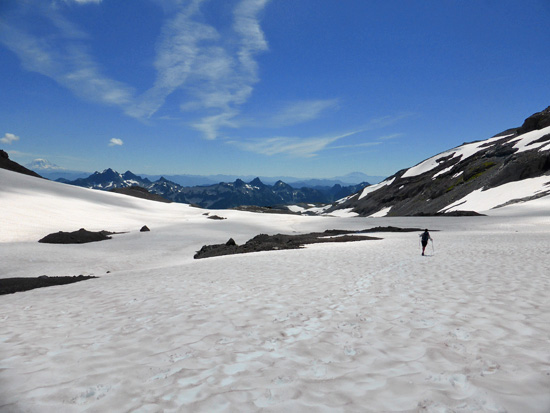 Open travel on Paradise Glacier