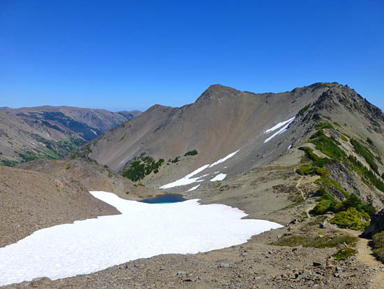Looking over Grand Pass from Grandview Peak